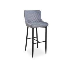 Barová židle COLIN B VELVET H-1, šedá