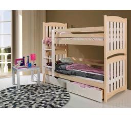 Dětská patrová postel z masivu SERAFIN