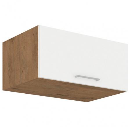 Kuchyňská skříňka Vega 80NAGU36-1F dub lancelot/bílý lesk