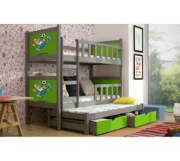 Patrová postel PINOKIO 3 - Grafitová