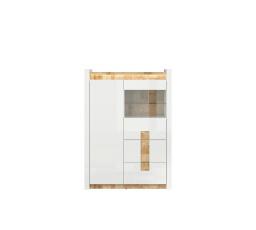 ALAMEDA REG1W1D2S bílý lesk/dub westminster