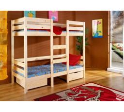 Dětská patrová postel z masivu BARTOŠ