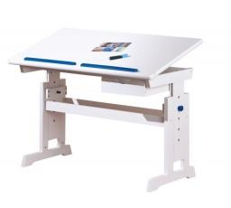 Psací stůl BARU, Bílo-růžovo-modrý