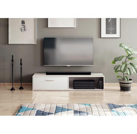 TV stolek Skip bílý