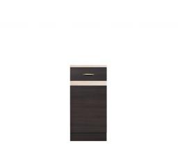 Kuchyně Junona Line, spodní skříňka D1D/40/82 L wenge/wenge