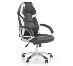 DOMEN - Kancelářské křeslo/ černá,bílá