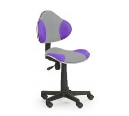 Židle OZY-G2- šedo fialová