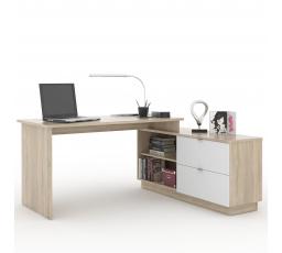 VEGA 01  -počítačový stůl monoblok (VE01)- dub sonoma/bílá (MD) (K150)