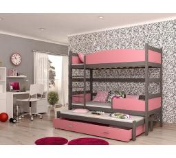 Patrová postel z masivu TWIST 3