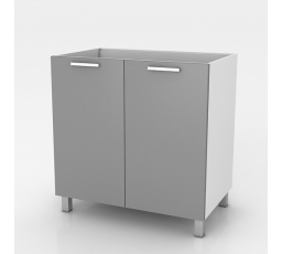 Dřezová kuchyňská skříňka Natanya ZL802D bílý lesk