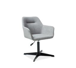 Jídelní židle KUBO, šedá/černá