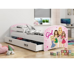 Dětská postel Luki - Bílá (Girl) 160x80 cm