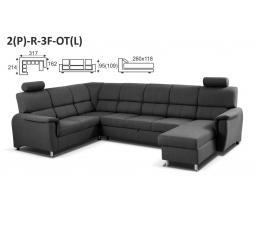 DUO EVER - rohová sedací souprava 2(P) - R - 3F - OT(L)