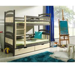 Dětská patrová postel z masivu JAKUB