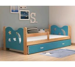 Dětská postel z masívu MIKOLAJ 160x80 cm