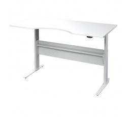 Výškově nastavitený psací stůl Office 474/448 bílá/silver grey