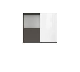 GRAPHIC (S343) SFW2D/86/75/C šedý wolfram/bílý lesk (laminát)