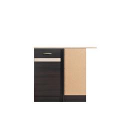 Kuchyně Junona Line, spodní rohová skříňka DNW/100/82P, wenge/wenge