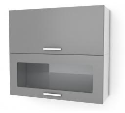 Kuchyňská skříňka Natanya KL1001D1W bílý lesk
