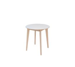 stůl  IKKA dub sonoma/bílá  (kulatý)  (LAM 1/TX069)