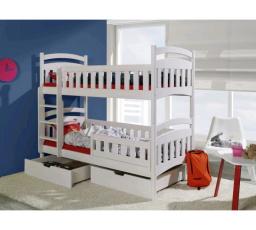 Dětská patrová postel z masivu DOMINIK II