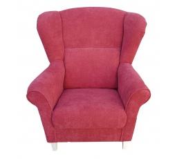 """KRISTOF křeslo  - Loretta 1104 červená/dř.bílá (FE) - kolekce """"E"""" (K250-Z)"""