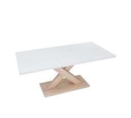 stůl HANX bílá alpská/dub sonoma (rozklad:140 - 180 cm)