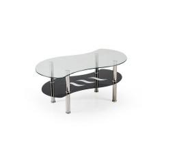 Konferenční stůl CATANIA /transparent sklo+černá police