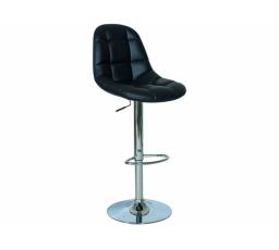 C-198 barová židle eco černá/chrom (KROC198C) (S) (K150-Z)