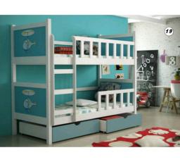 Patrová postel PINOKIO 2 - Bílá