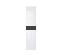 WEKTRA F2 dveře bílý lesk/wenge (vroubkovaný proužek)