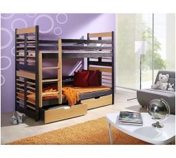 Dětská patrová postel z masivu AUGUSTYN