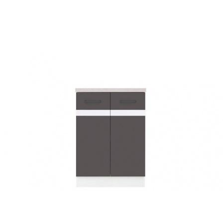 Kuchyně Junona Line, spodní skříňka D2D/60/82, Bílá/šedý wolfram