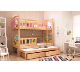 Dětská postel pro 3 děti TAMI 3 - 184x80 cm