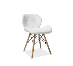 Jídelní židle MATIAS, bílá/buk