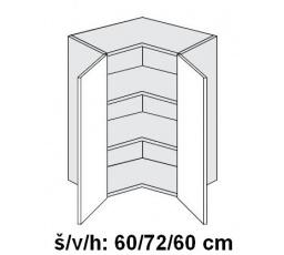 PLATINUM - vrchní skříňka W12/60