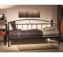 ANKARA  90 postel kov černá (300) s roštem (ANKARAC) (S) (K150-Z)