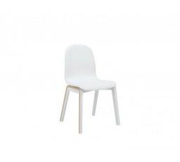 BARI židle bílá/dub přírodní tk. 1089