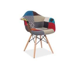 Jídelní židle DENIS A, patchwork/buk