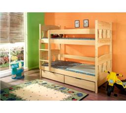 Dětská patrová postel z masivu VIKTOR