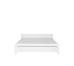 Postel KASPIAN LOZ/160 bílá/bílá matná  bez roštu