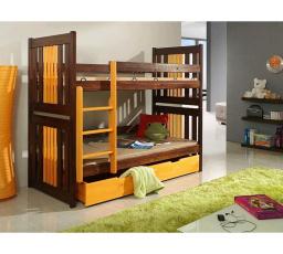 Dětská patrová postel z masivu KORNEL