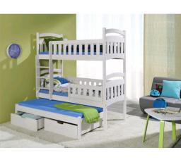 Dětská patrová postel z masivu DOMINIK III