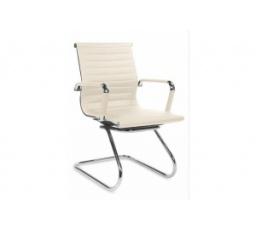 Kancelářská židle  PRESTIGE SKID Bílá