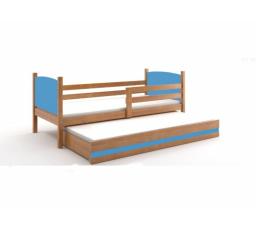 Postel z masivu pro 2 děti TAMI 2 - Olše/Modrá
