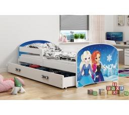 Dětská postel Luki - Bílá (Frozen) 160x80 cm