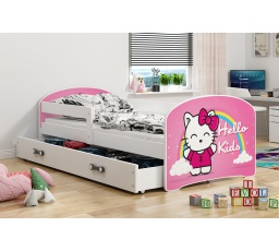 Dětská postel Luki - Bílá (Kitty) 160x80 cm