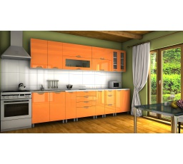 Kuchyňská linka Granada KRF 300 oranžový lesk