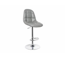 C-198 barová židle eco šedá/chrom (KROC198SZ) (S) (K150-Z)