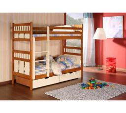Dětská patrová postel z masivu OLIVER
